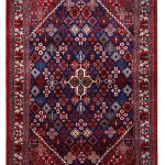 Red Persian Joshaqan rug for sale DR390-7219