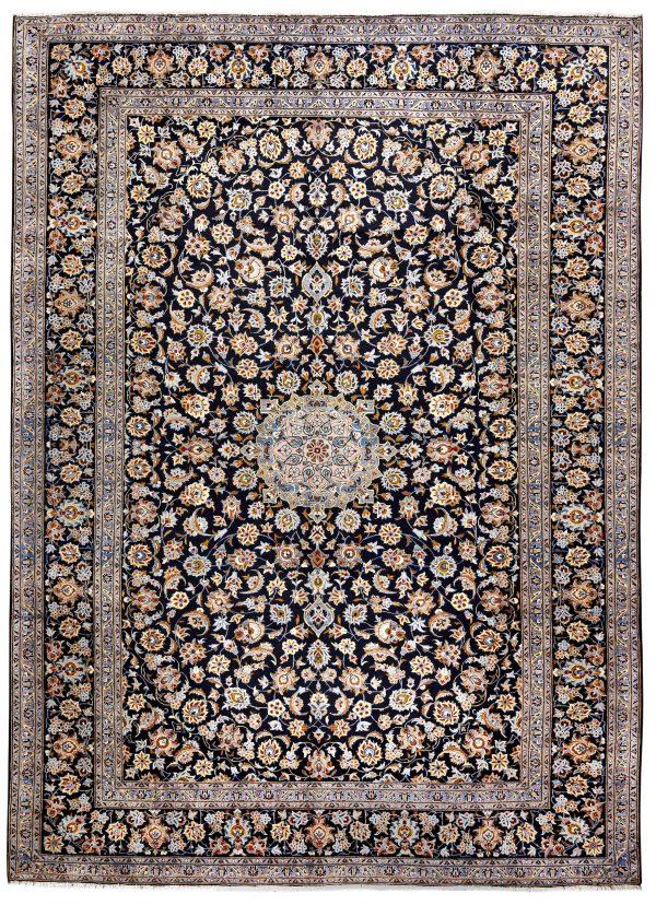 Beautiful 3x4 Persian Carpet for sale Kashan Rug DR-427-7298