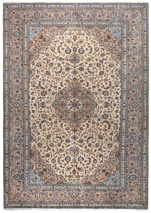beige Kashan Persian Carpet for sale DR-426-7300-1