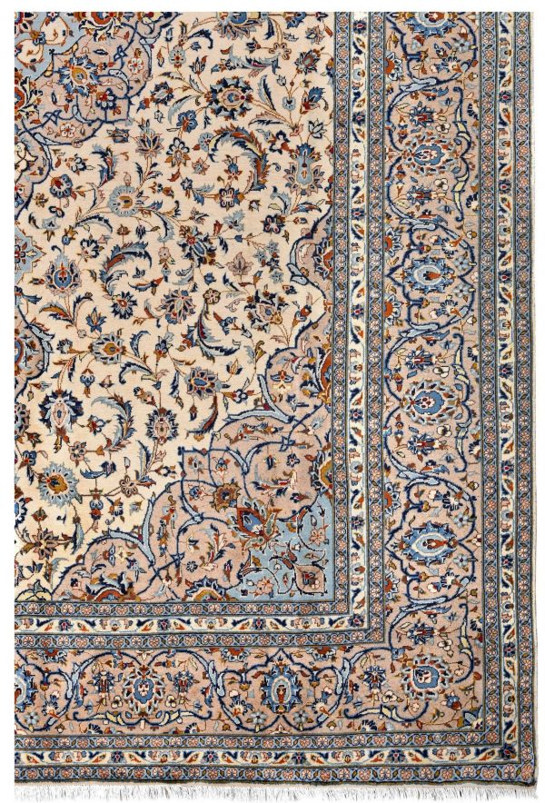 beige Kashan Persian Carpet for sale DR-426-7301