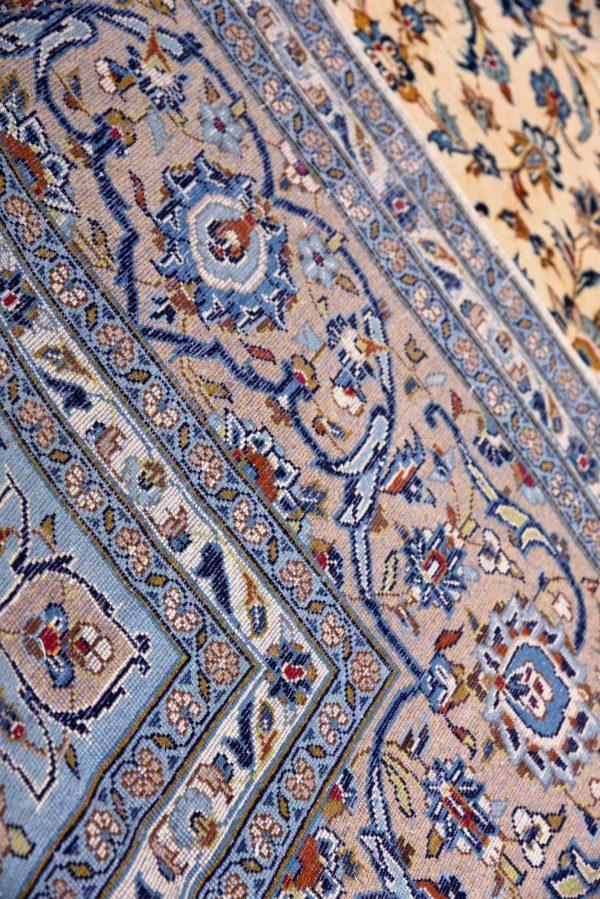 beige Kashan Persian Carpet for sale DR-426-7306