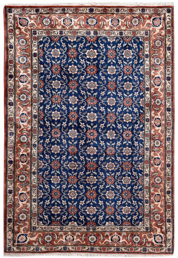 50 Years Old Hand Knotted Persian Rug - Varamin DR468-5220