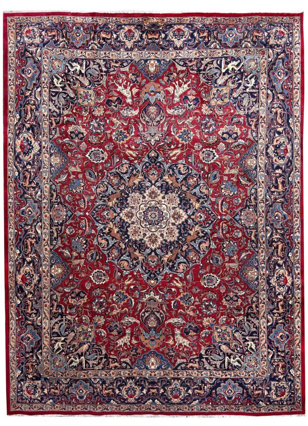 Antique Hand-knotted Mashad carpet for sale DR192-5362