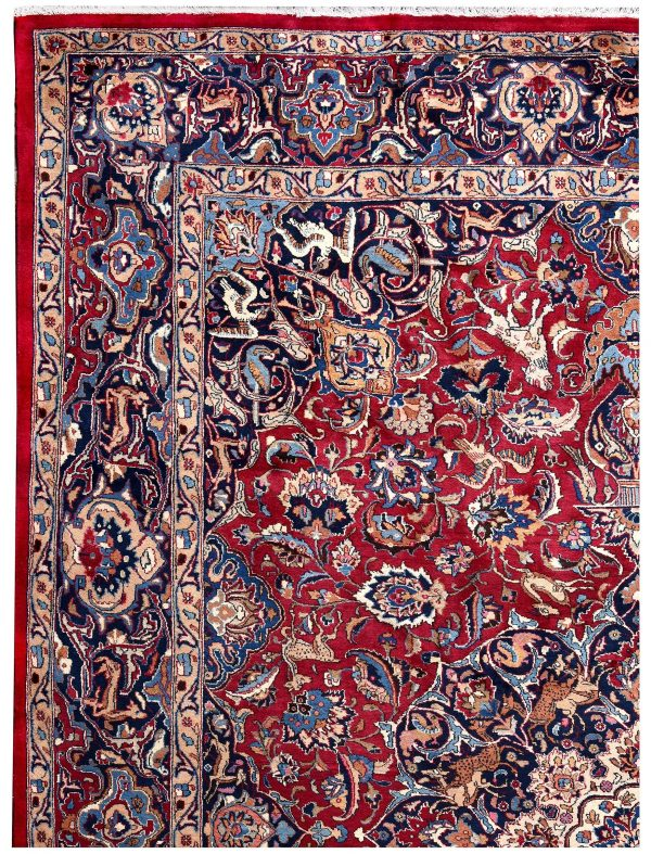 Antique Hand-knotted Mashad carpet for sale DR192-5363