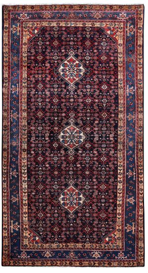 Dark blue Malayer Rug, 5x10 feet Persian Rug DR445-5243