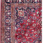 Red Hand knotted Mashad Carpet for Sale DR138-5366