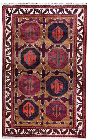 Tribal Hand-knotted Lori Rug, Khoramabad Rug-DR441-5271