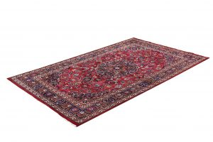 2x3m Hand-knotted Red Mashad Carpet for sale DR453-454-5378