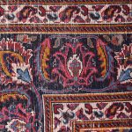 2x3m Hand-knotted Red Mashad Carpet for sale DR453-454-5380