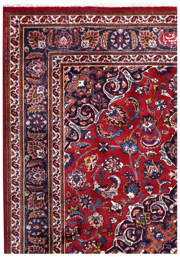 2x3m Hand-knotted Red Mashad Carpet for sale DR453-454-5390