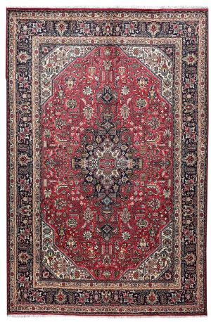Iranian red carpet, 2x3m Tabriz carpet DR451-5515