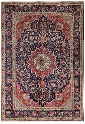 unique-persian-blue-carpet-tabriz-blue-rug-dr460-5510 e