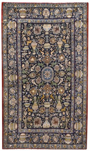 Kashan Rug, Unique Blue Persian Rug DR474 5709