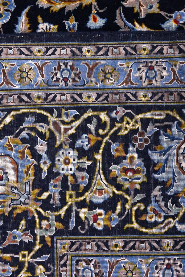 Kashan carpet, Blue Shah Abbasi Design DR449 5650
