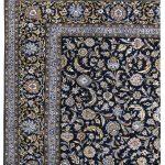 Kashan carpet, Blue Shah Abbasi Design DR449 5657