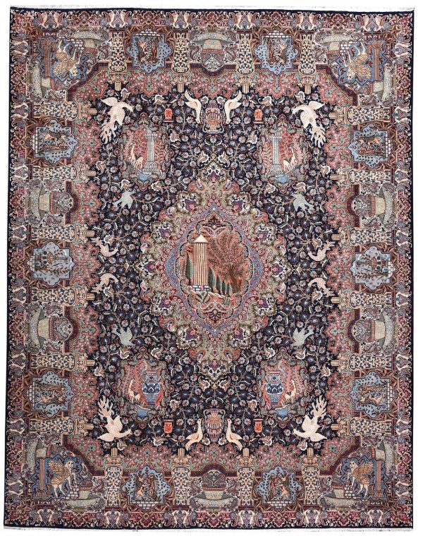 Persian carpet, 80 Years Old Persian Rug for Sale DR473 5679