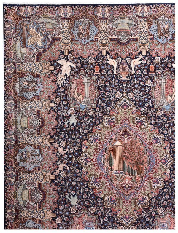 Persian carpet, 80 Years Old Persian Rug for Sale DR473 5680