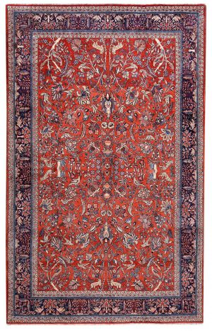 Sarouk Rug 50 Years Old Sarouk Carpet DR446 5640