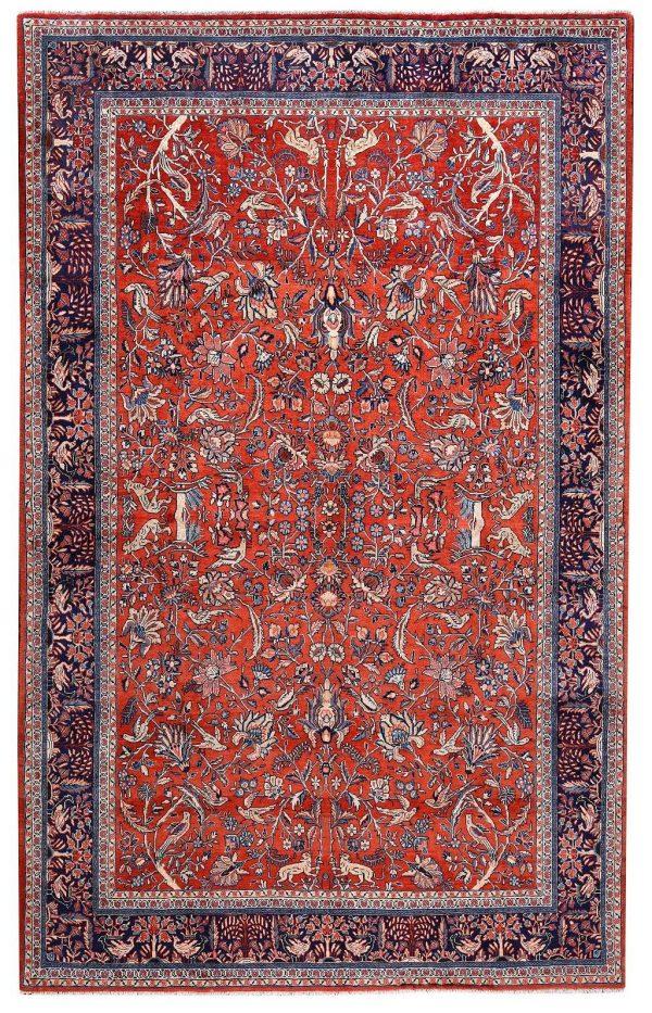 Sarouk Rug 50 Years Old Sarouk Carpet DR446 5640