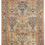Small Persian Rug Handmade Silk Rug DR466 5575