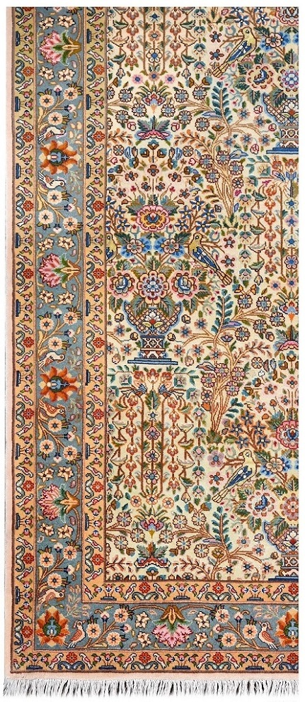 Small Persian Rug Handmade Silk Rug DR466 5576