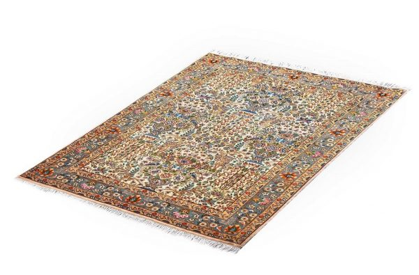 Small Persian Rug Handmade Silk Rug DR466 5591