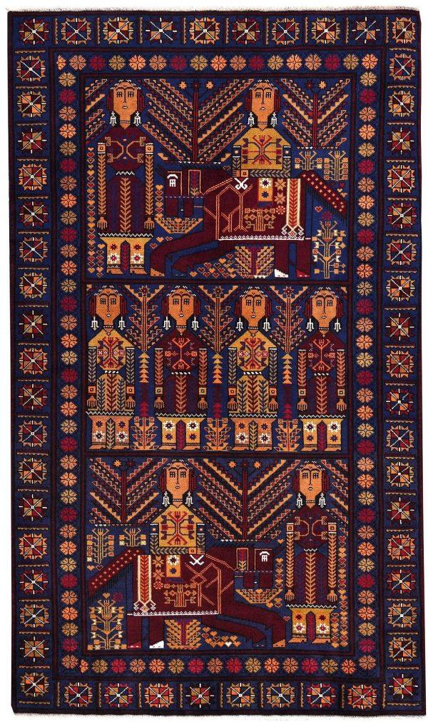 Zabol Sistani Rug 60 Years Old Oriental Rug DR463 5608