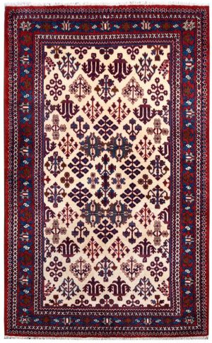 Cream Rug, handmade Josheghan rug for sale DR381