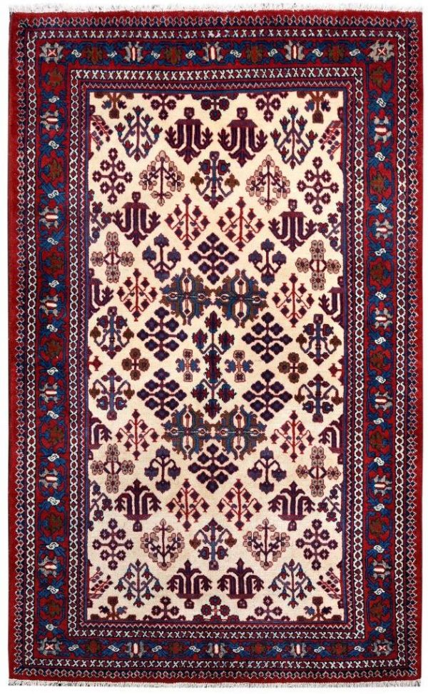 Cream Rug, handmade Josheghan rug for sale DR381