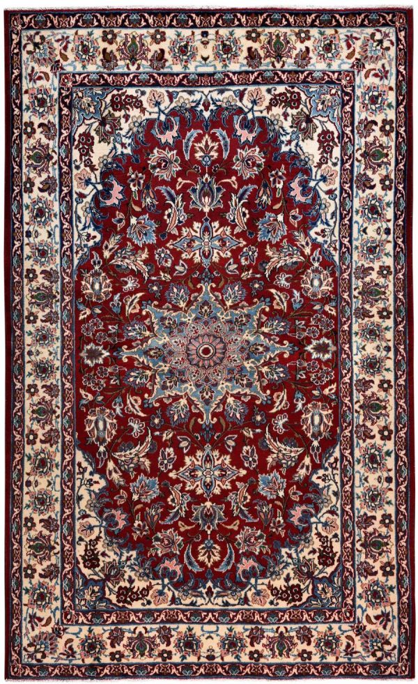 Isfahan Carpet, 60 Years old Shah Abbasi Persian Carpet DR328 0427a