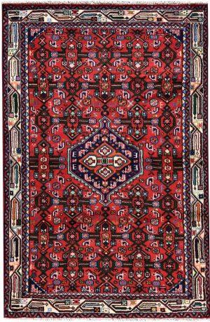 Angelas Carpet, Injelas rug, 1x1.5m Hamadan Red Rug DR215 0453