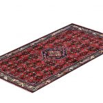 Injelas Carpet, 1×1.5m Hamadan Red Rug DR215 0453a
