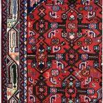 Angelas Carpet, 1×1.5m Hamadan Red Rug DR215 0455