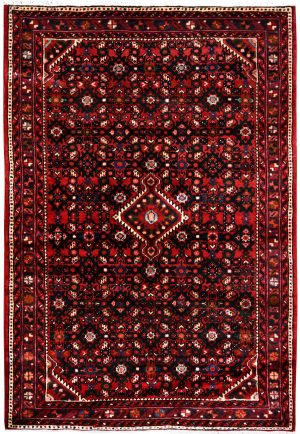 Hosseinabad Carpet, Small Persian Red Rug DR493 0479