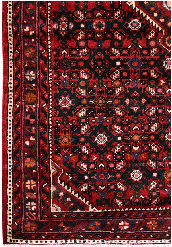 Hosseinabad Carpet, Small Persian Red Rug DR493 0480