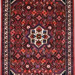 Hosseinabad Rug, Small Persian Red Carpet DR494 0481