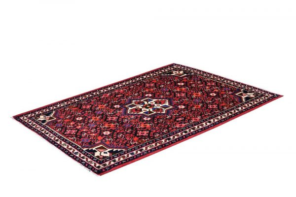 Hosseinabad Rug, Small Persian Red Carpet DR494 0481a