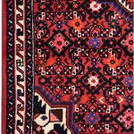 Hosseinabad Rug, Small Persian Red Carpet DR494 0482