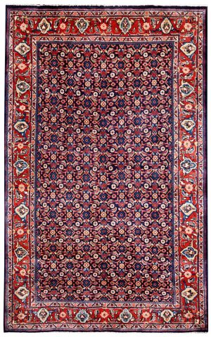 Small carpet, 50 Years Old Small Persian Sarouk Rug DR214 0484