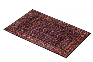Small carpet, 50 Years Old Small Persian Sarouk Rug DR214 0484a