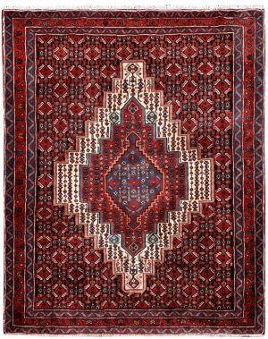 Kurdish Oriental Carpet, Red Oriental Rug DR332 0520