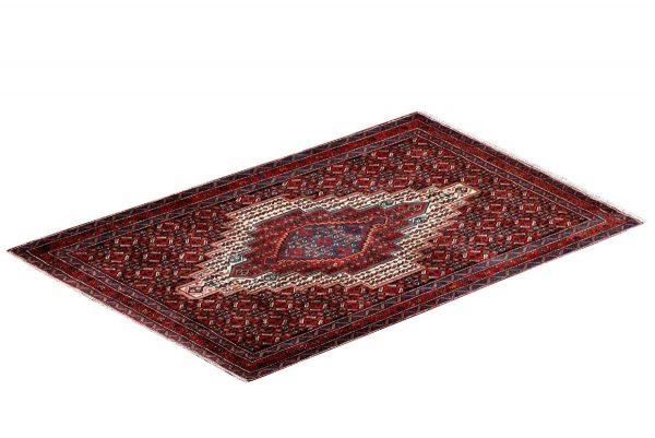 Kurdish Oriental Carpet, Red Oriental Rug DR332